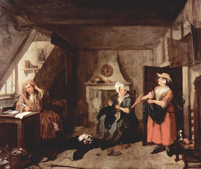 William Hogarth Der gepeinigte Poet