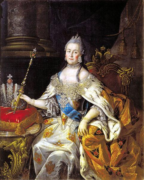 Aleksey Antropov Portrait of Catherine II, Oil, Canvass, Tver Art Gallery