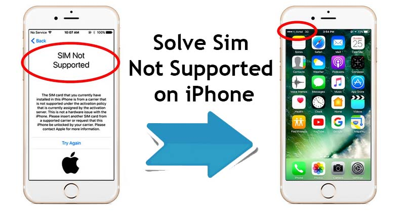 Solve Sim Not Supported on iPhone