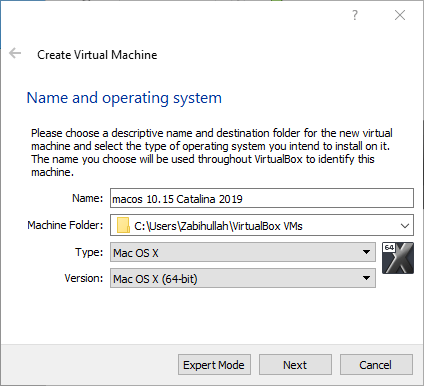 Install macOS 10.15 Catalina on VirtualBox