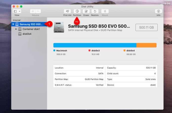 Dual Boot macOS 10.15 Catalina and Windows 10
