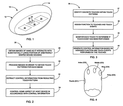 Apple patent for multi touch mouse
