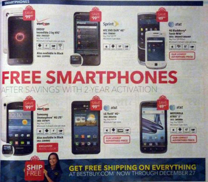 Best Buy to offer a number of phones for free for Black Friday