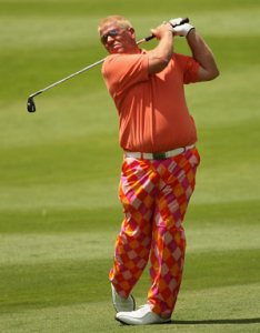 Daly sports his new wardrobe in Spain