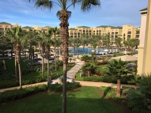 Courtyard & pool at the Mazagan Beach & Golf Resort