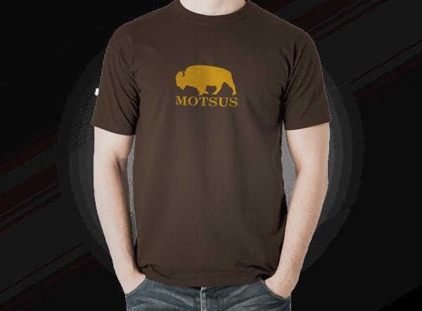 "MOTSUS ""Bizon"" T-Shirt BROWN"