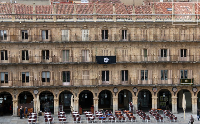 Plaza Mayor din Salamanca, Spania