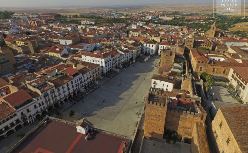 Plaza Mayor from Cáceres, Spain