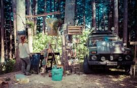 Into the wood festival, allestimento mostra fotografica Simone Antonelli