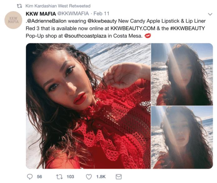 Kim Kardashian Adrienne Bailon-lorry-Beauty