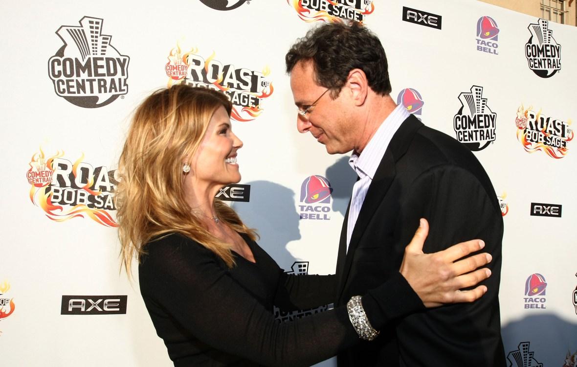 Lori Loughlin Hugging Bob Saget