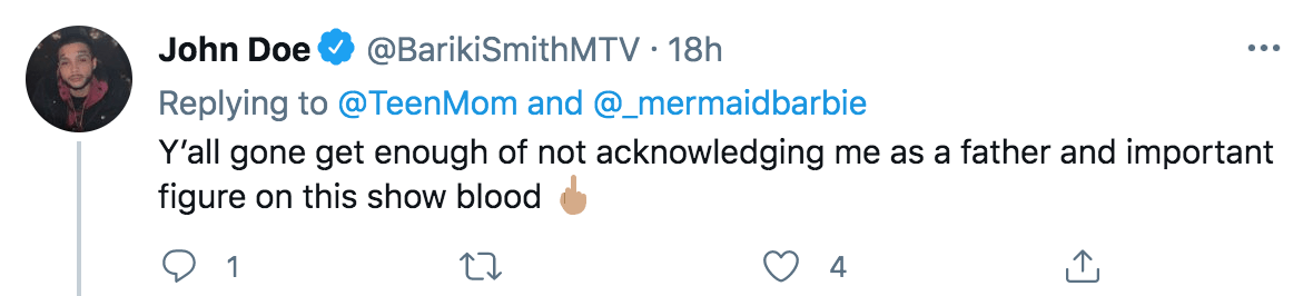 Bariki Smith Tweet