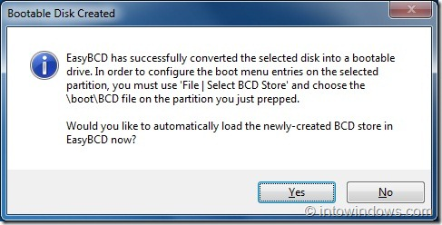 Create Bootable USB Flash Drive Using EasyBCD step3