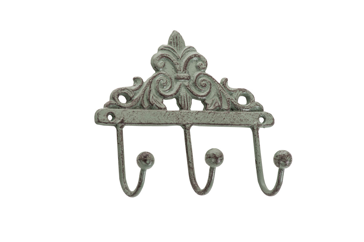 Coat Rack Melinda Hat 3 Hooks Iron Metal Wall Mounted