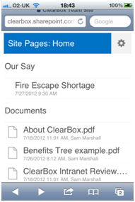 SharePoint on iOS