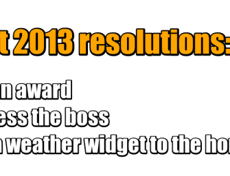 Intranetizen #intranet 2013 resolutions