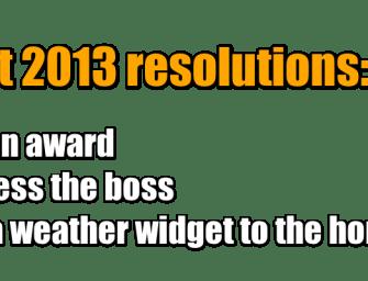Intranetizen #intranet 2013 resolutions