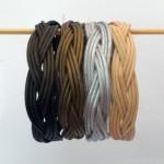 Bracciali a treccia varianti di colore