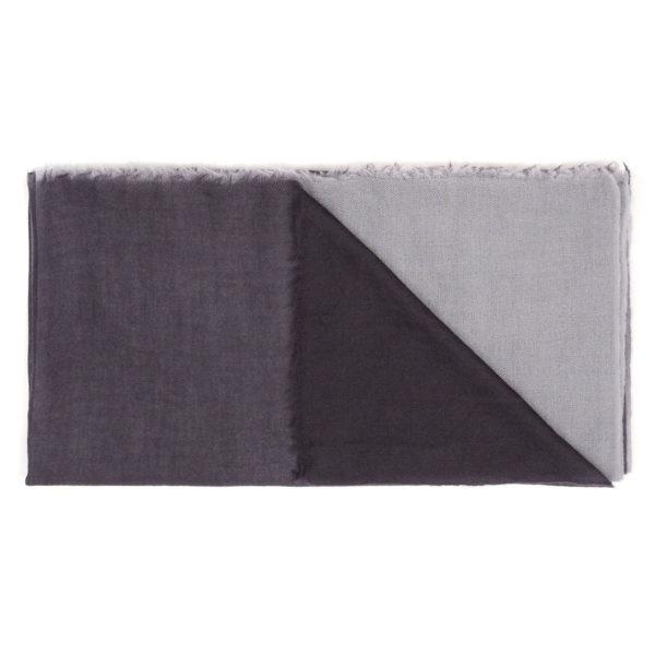Intreccio Scarf BIcolor Gray