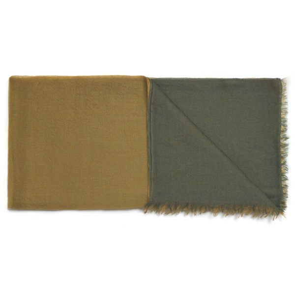 C10757 Scarf Intreccio BIcolor Green e Gold