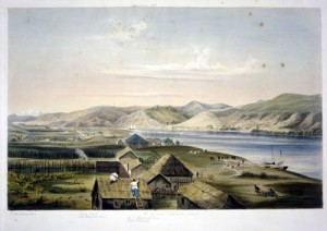 Settlement of Wanganui New Zealand 1841