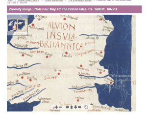 BL Claudius Ptolemy Version of map on BL online