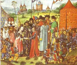Marriage of Henry V and Catherine of Valois daughter of King Charles VI of France 1420