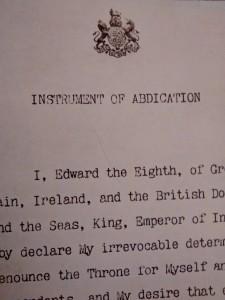 Edward III Instrument of Abdication close-up