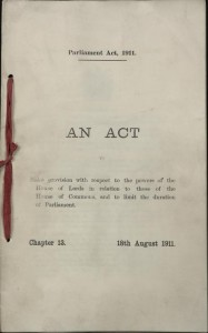 lord gives way to the commons following debacle of peoples budget 1909