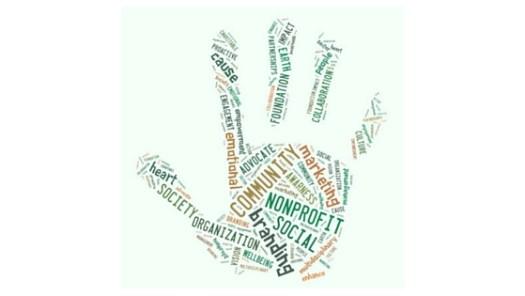 nonprofit word cloud, nonprofit, organization, community, branding, marketing, society, cause