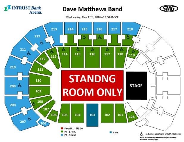 Intrust Bank Arena Seating Chart Brokeasshomecom - Intrust arena seating