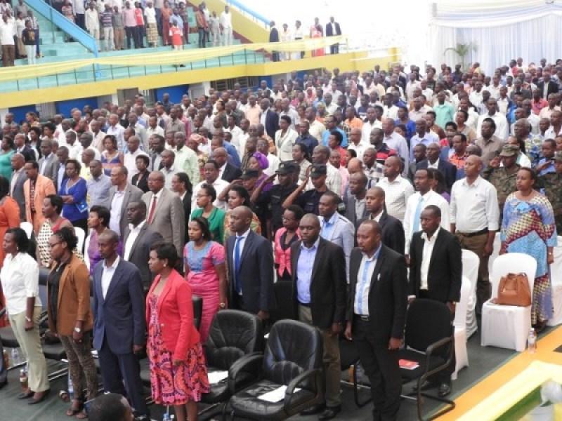 Bamwe mu bayobozi b'inzego zitandukanye mu mujyi wa Kigali.