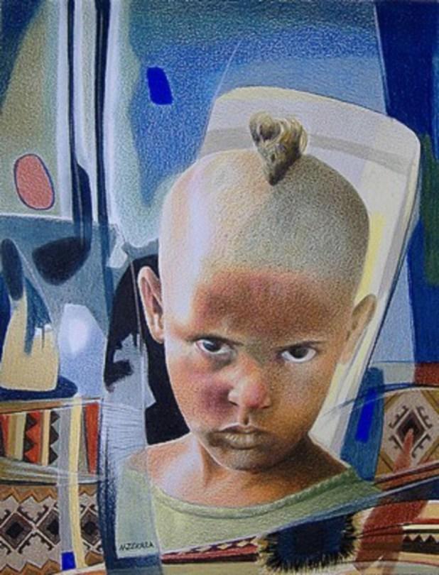 لوحة للفنّان الشّاوي نور الدّين زكّارا