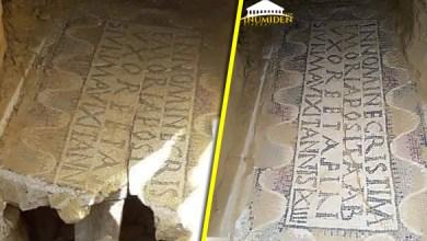 صورة تبسة: تخريب لوحة فسيفسائية بعد أيام من اكتشافها بنقرين