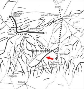 Localisation des ruines sur la carte