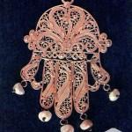 Khemsa en or et perles (Pays chaoui - Constantinois)
