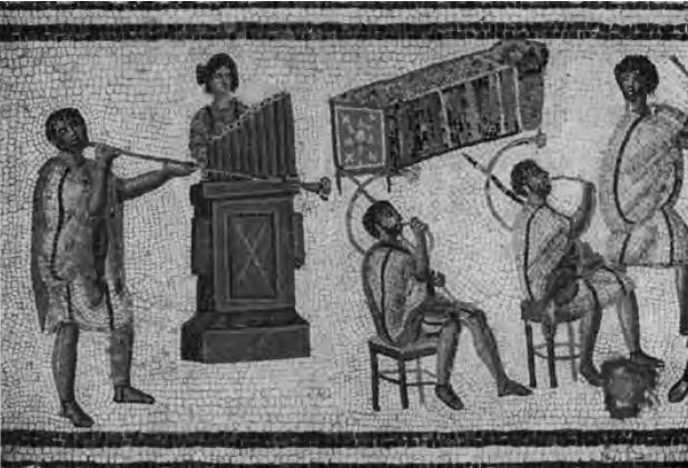 Fig. 3 : Mosaïque de Zliten (cl. de l'auteur d'après aurigemma s., L'Italia in Africa, I. 1, 1960, pl. 143).