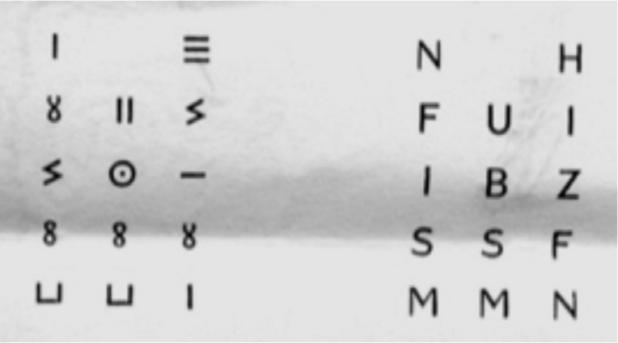 Fig. 1 : Chabot (J. B.), Recueil d'inscriptions libyques, 1950, n°706.