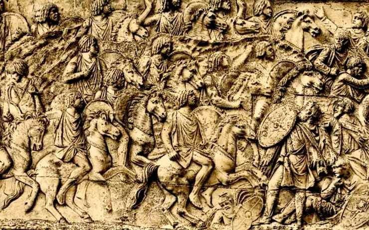 Cavaliers numides chargeant leurs ennemis