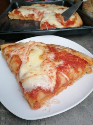 Pizza al trancio con lievito madre