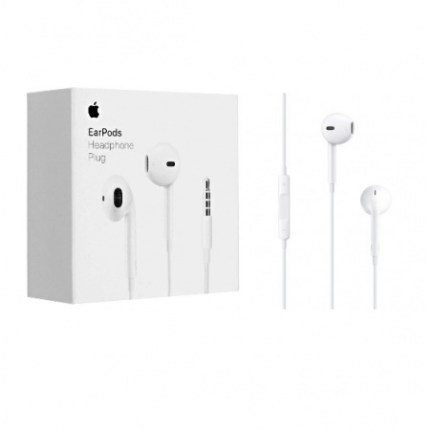 Auriculares EarPods para IPhone, IPod, 3.5 milimetros. Originales Apple. Caja