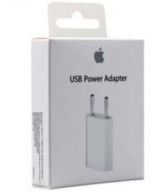 Cargador 220V a USB 2.0 Original Apple. Foto caja