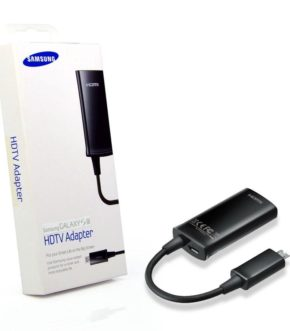 Adaptador HDTV Samsung - HDMI macho a Micro USB hembra. Samsung original. Foto con caja