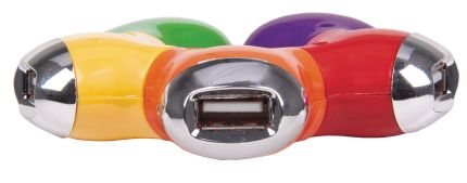 Hub USB multicolor de 4 puertos. Manhattan. Foto del hub de frente