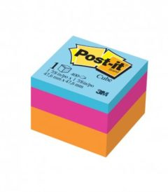 Foto: notas autoadhesivas Post-it 3 colores fluo