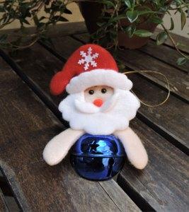 Foto - Cara Papa Noel con Cascabel - Azul