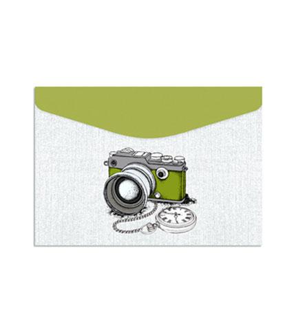 Foto 4. Sobres de carton con velcro, diseño cámaras 3