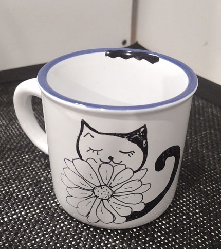 Foto 4 - Taza Retro Mini - Diseño gato con flor