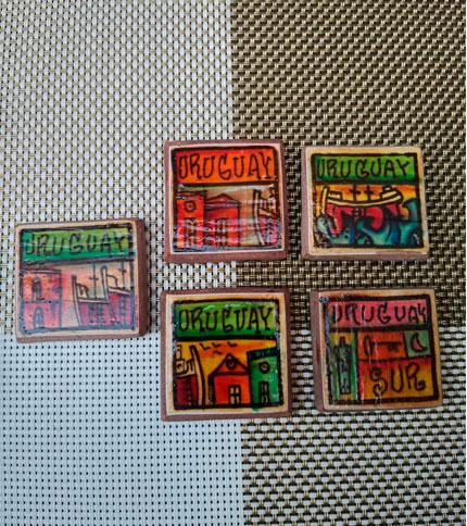 foto imán de cerámica artesanal