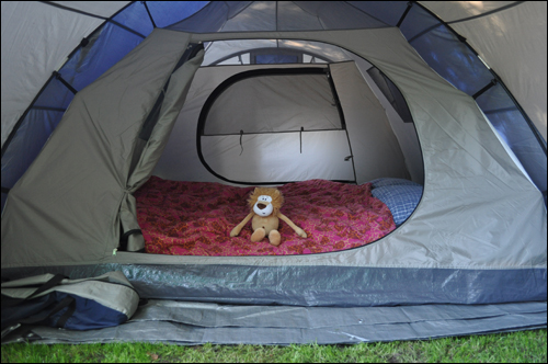 Alex Goes Camping Tent Inside
